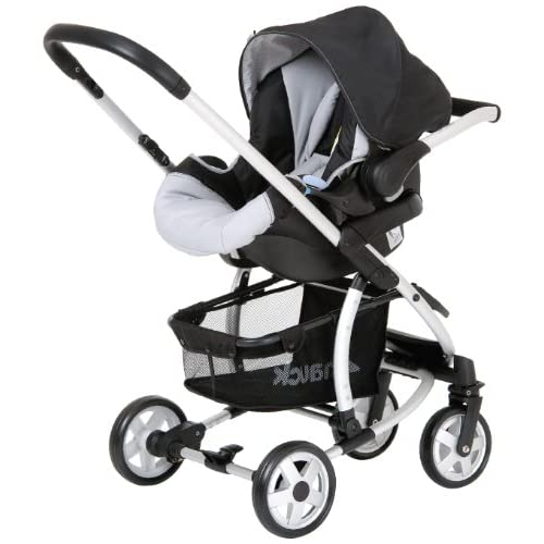 hauck Malibu All-in-One Travel System (Caviar Silver)