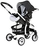Hauck Malibu All-in-One Travel System (Caviar/Silver)
