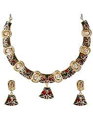 JEWELKRAFT Multicoloured High Fashion Necklace Set.