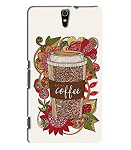 Blue Throat Coffee Glass Art Printed Designer Back Cover For Sony Xperia C5