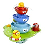 Bath Toy - Stack N' Spray Bathtub Fountain - 7 Unique Pieces With Different Functions ~ Yookidoo