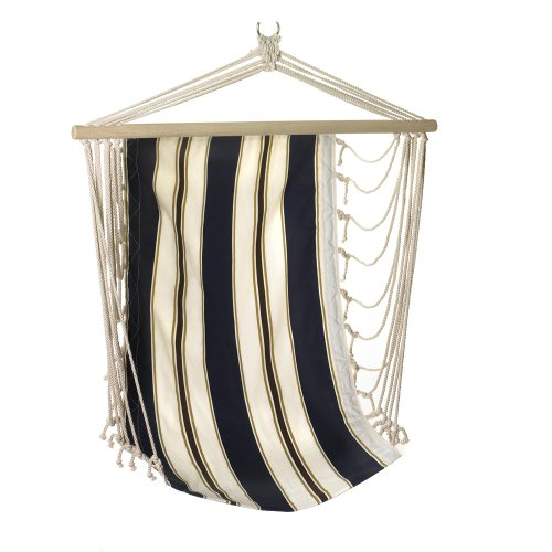 Gifts & Decor Navy Striped Blue and White Cotton Hammock Chair