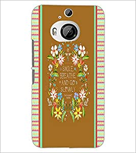 PrintDhaba Quote D-4246 Back Case Cover for HTC ONE M9 PLUS (Multi-Coloured)