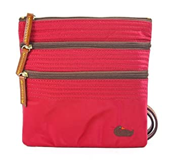 Dooney & Bourke North/south Triple Zip Crossbody Handbag, Red