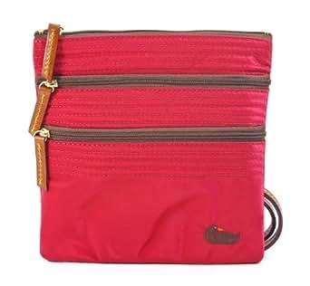 Dooney & Bourke North/south Triple Zip Crossbody Handbag, Red