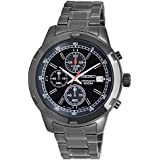 Seiko Black Ionic-Plated Chronograph Watch