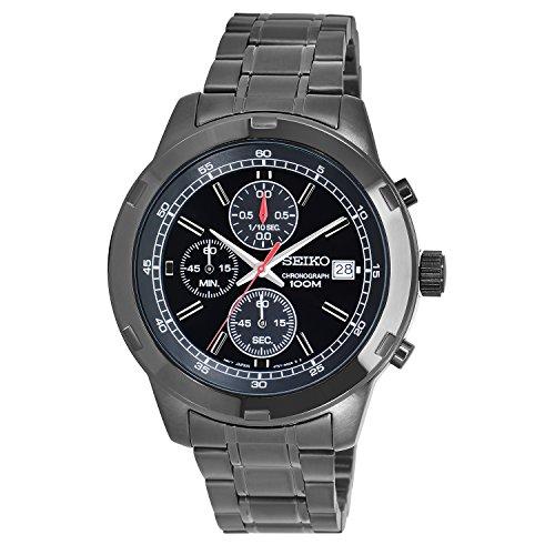 Seiko Black Ionic-Plated Chronograph Watch