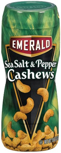 Emerald Sea Salt and Pepper Cashew 10oz Canister Pack of 4