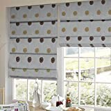 Presto Bazaar Brown N Gold Geometrical Tissue Embroidered Window Blind (96 Inch X 44 Inch)