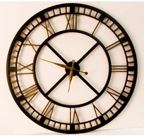 Looking For Large Clocks  Five Railway Clocks That Wow   Train     in this instance  big and bold  The color scheme really makes a  statement on a wall  It s a great choice for a retro or rustic living room  or den . Clocks For Living Room. Home Design Ideas
