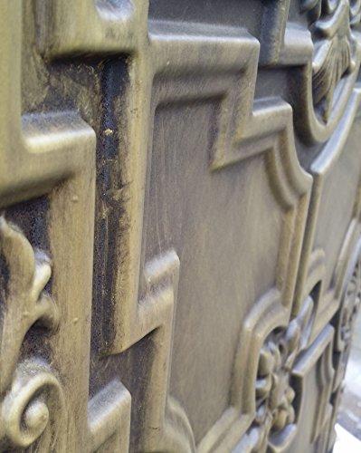 PL16en plusieurs finitions disponibles: Jaune Antique plafond Panneaux muraux décoration carrelage 3D en relief Cafe Pub Shop Art 10pieces/Lot