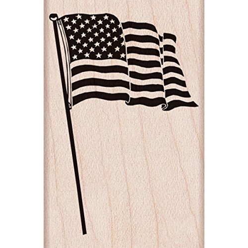 "Hero Arts American Flag Mounted Rubber Stamp, 2.25"" by 1.5"" - 1"