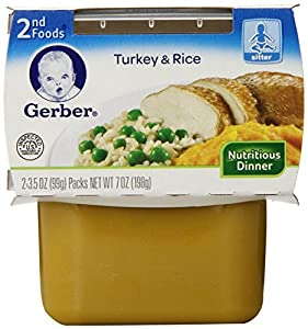 Gerber 2nd Foods Turkey Rice, 7-Ounce (Pack of 8)
