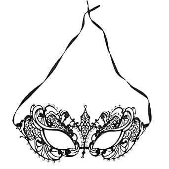Women's Laser Cut Metal Venetian Pretty Masquerade Mask