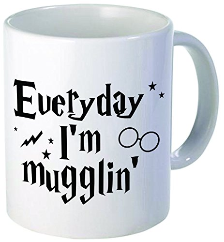 Everyday I'm Mugglin' - 11OZ ceramic coffee mug - Best funny and inspirational gift (Baby Bird Hair Dryer compare prices)