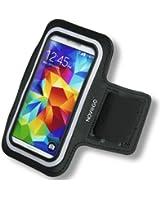 Brassard de sport néoprène avec bande velcro, bandes réfléchissantes et poche à clé pour Samsung Galaxy S5/S4/S3