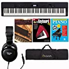Casio PX-350 BK 88-Key Digital Piano 3 Hal Leonard Piano Books PRIVIACASE Soft Case and Headphones