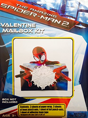 The Amazing Spider-Man 2 Valentine Mailbox Kit ~ BOX NOT INCLUDED