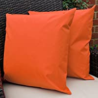 Waterproof Garden Cushions for Chairs - Cane Filled Cushions for Seats and Benches - Colourful Outdoor Cushion (6, Orange) from Comfort Co®