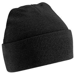 Beechfield - Bonnet tricoté - Adulte unisexe (Taille unique) (Noir)