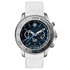 Ice-Watch BM.L.CH.WDB.B.L.14 Men's BMW Motorsport Steel White Leather Band Dark Blue Dial Watch