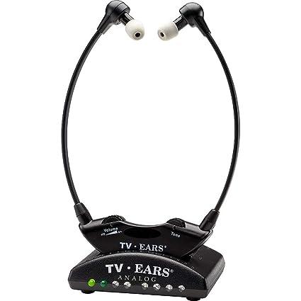 TV Ears 11641 Casque audio Infrarouge Analogique 5.0 2.3 MHz sans fil pour TV Noir