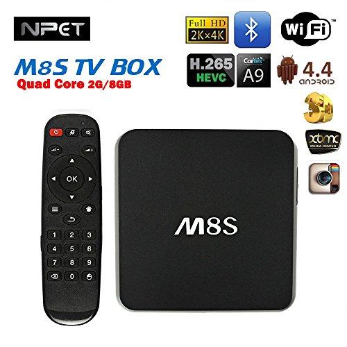 NPET M8S Smart TV Box Amlogic S812 Quad Core Android 4.4 2GB Digital Media Player Media Player Divertissement Smart Média Lecteur
