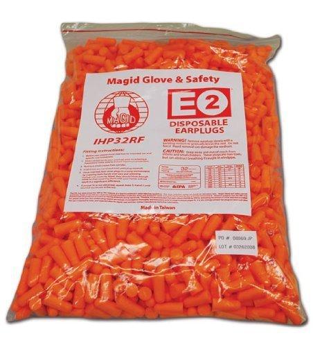 magid-ihp32rf-polyurethane-foam-e2-disposable-uncorded-foam-earplug-one-size-fits-all-fluorescent-or