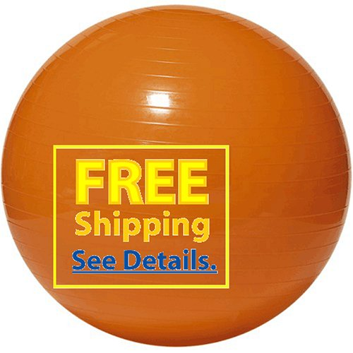 "Balego® Professional Grade Fitness, Exercise Ball: 45 Cm (18"") Orange"
