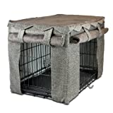 Snoozer Cabana Pet Crate Cover, Medium, Shona Granite/Dark Chocolate