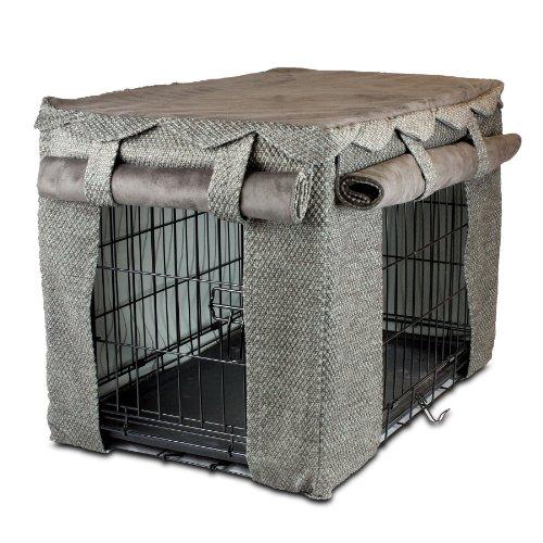 Snoozer Cabana Pet Crate Cover, Medium, Shona Granite/Dark Chocolate front-869612
