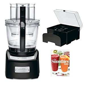 Cuisinart FP-14BK Elite Collection 14-Cup Food Processor in Black + Cuisinart Storage Case + The Smoothies Bible By Pat Crocker