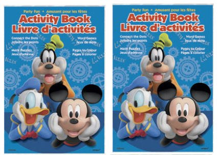 4 Mickey Mouse Party Favor Coloring & Activity Books - 1