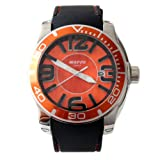 "Waooh - Watch ""Tyson"" - Silicone band and metal case - Orange"