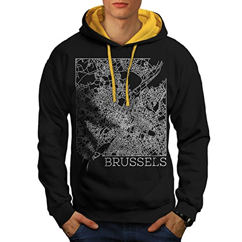 belgium-brussels-map-big-town-men-new-black-gold-hood-m-contrast-hoodie-wellcoda