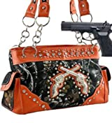 Orange Camo Fashion Double Pistol Conceal and Carry Purse