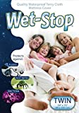 Wet-Stop Waterproof Terry Cloth Mattress Cover (Twin)