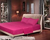 Tache 3 Piece Fuchsia Rose Pink Bedsheet Set-Queen