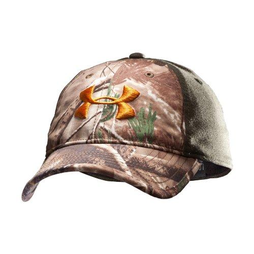 Men's UA Camo 2-Tone Stretch Fit Cap Headwear by Under Armour Combo Medium & Large Realtree AP