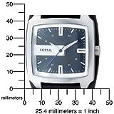 Fossil Men's JR9991 Black Leather Strap Black Analog Dial Watch
