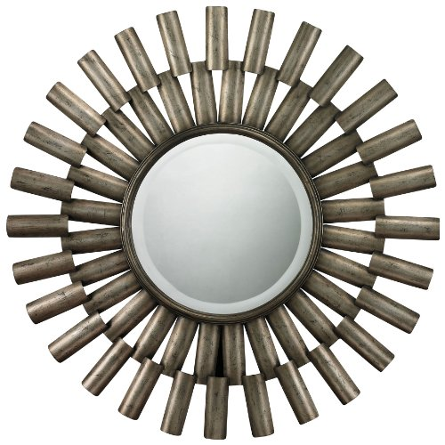 Sterling 114-18 Trestle Glass/Mdf Bevel Mirror With Metal Frame, 36-Inch, Antique Silver front-803923