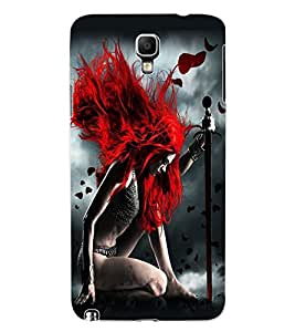ColourCraft Warrior Girl Design Back Case Cover for SAMSUNG GALAXY NOTE 3 NEO DUOS N7502