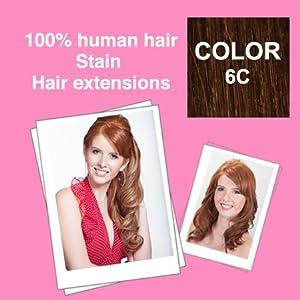 100% human hair Stain Straight 18