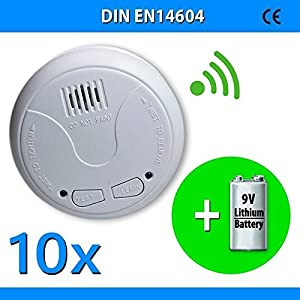 10x Nemaxx WL10 Funkrauchmelder mit 10 Jahre Lithium Batterie Brandmelder Warnmelder Feuermelder Rauchwarnmelder  nach DIN EN 14604  BaumarktKundenbewertung: