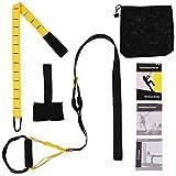 DAS Leben Schlingentrainer mit Handgriffe, inkl. Türanker, Karabinerbefestigung und Transportbeutel für Zuhause und Turnhalle