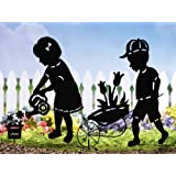 Gardening Kids Outdoor Garden Shadow Stakes Girl By Collections