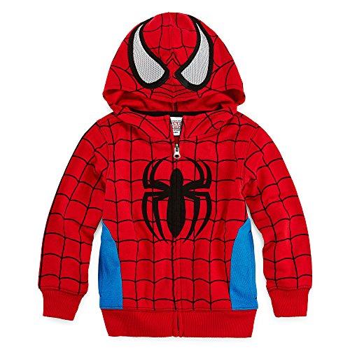 Marvel Little Boys' Toddler Spiderman Costume Hoodie (3T)