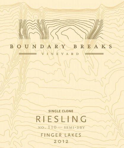 2012 Boundary Breaks Vineyard No. 110 Finger Lakes Riesling 750 Ml