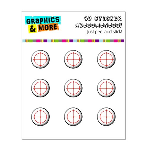 Graphics and More Sniper Target Home Button Stickers Fits Apple iPhone 4/4S/5/5C/5S, iPad, iPod Touch - Non-Retail Packaging - Clear