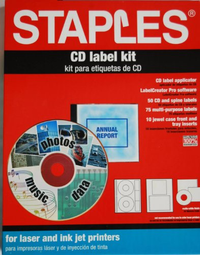 staples cd label kit office supplies general supplies. Black Bedroom Furniture Sets. Home Design Ideas